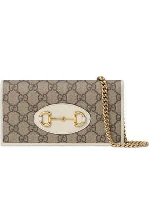 Gucci 1955 Horsebit chain-strap wallet - Neutrals