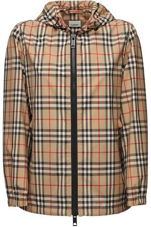 Burberry Everton Check Nylon Windbreaker Jacket