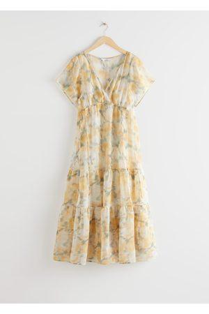 & OTHER STORIES Sheer Lyocell Blend Maxi Dress
