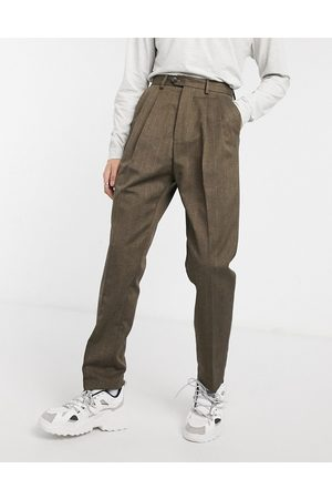 ASOS High waist wide leg pants in stripe