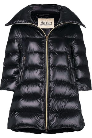 HERNO Puffer front zipped coat