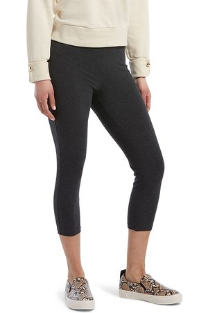 HUE Women Wide Leg Pants - Wide Waistband Blackout Capri Leggings