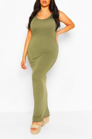 Boohoo Womens Plus Scoop Neck Maxi Dress - - 12