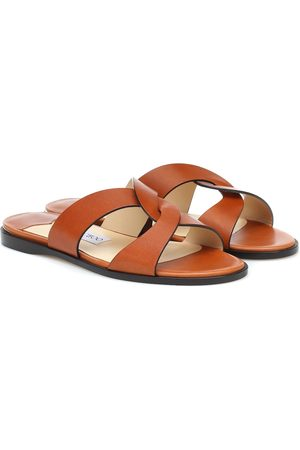 Jimmy Choo Atia Flat leather sandals