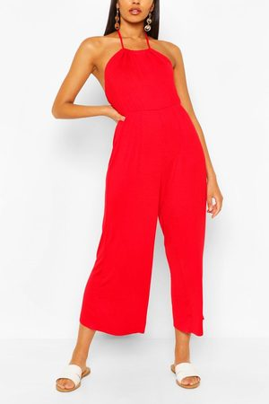 Boohoo Womens Strappy Jersey Jumpsuit - - 4