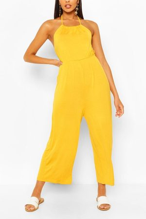 Boohoo Women Jumpsuits - Womens Strappy Jersey Jumpsuit - - 4