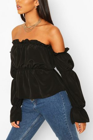 Boohoo Womens Tall Off The Shoulder Volume Sleeve Top - - 2