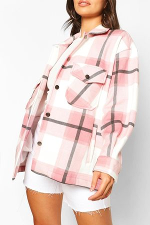 Boohoo Womens Petite Flannel Shirt Jacket - - S