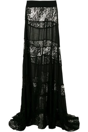 AMIR SLAMA Lace panels maxi skirt