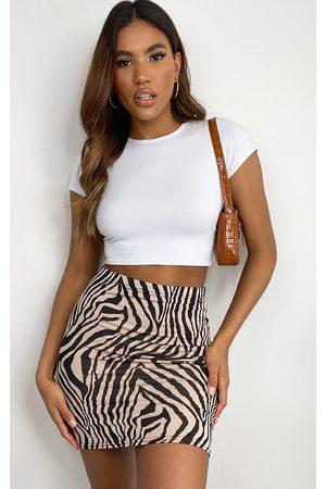 PRETTYLITTLETHING Zebra Basic Mini Skirt