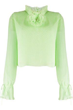 MARCO DE VINCENZO Pleated flower detail blouse