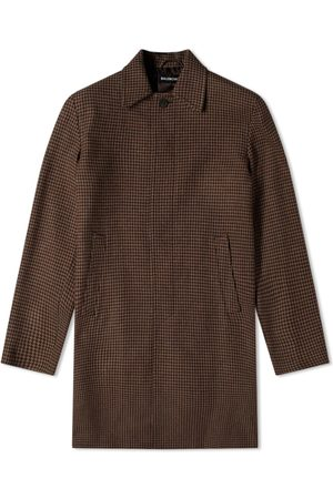 Balenciaga Men Coats - Houndstooth Car Coat