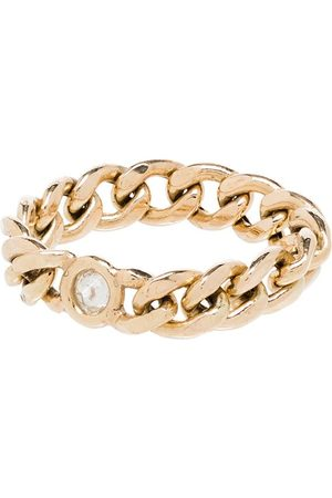 Zoe Chicco 14kt curb chain diamond ring