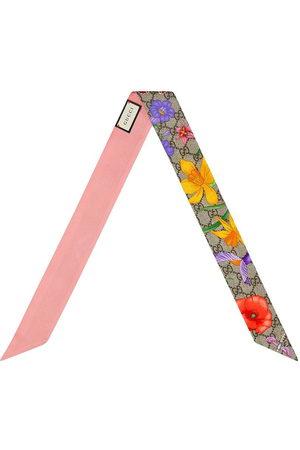 Gucci Floral-print scarf - Neutrals