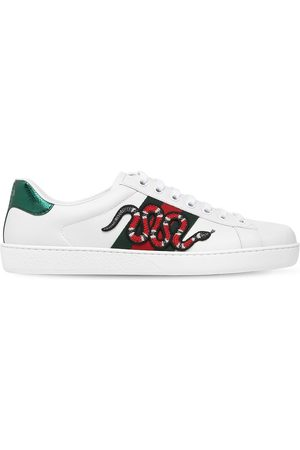 Gucci Snake New Ace Leather Sneakers
