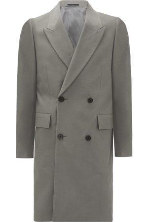 The Row Men Coats - Mickey Double-breasted Cotton Coat - Mens - Grey