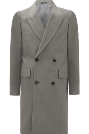 The Row Mickey Double-breasted Cotton Coat - Mens - Grey