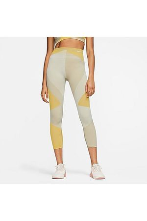 Nike Women Leggings - Women's Sculpt Icon Clash Crop Running Tights Size X-Small Knit