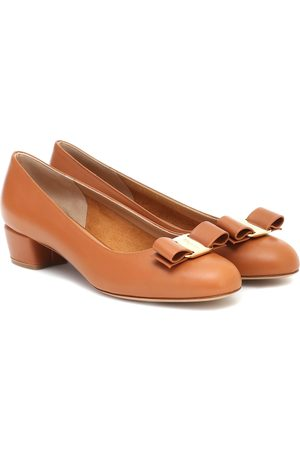 Salvatore Ferragamo Vara leather ballet flats