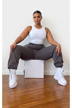 PRETTYLITTLETHING Plus Charcoal Casual Joggers