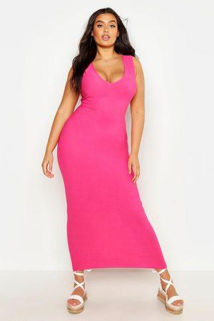 Boohoo Womens Plus V Front Maxi Dress - - 12