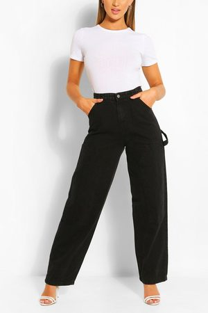 Boohoo Women High Waisted - Womens High Rise Utility Dad Jeans - - 2
