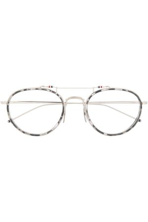 Thom Browne Round-frame eye glasses - Grey
