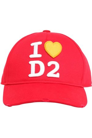 Dsquared2 I Love D2 Cotton Canvas Baseball Hat