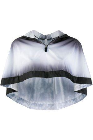 NO KA' OI Feel cropped cape - Grey