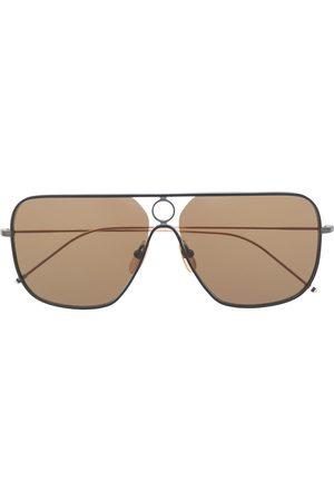 Thom Browne TB114 rectangular aviator sunglasses