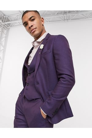 ASOS Suits - Wedding skinny wool mix suit jacket in soft berry twill