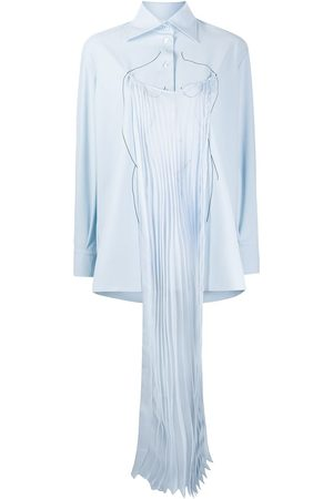 Seen Users Pleated panel relaxed-fit shirt