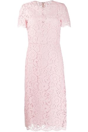 VALENTINO Women Bodycon Dresses - Floral lace fitted dress