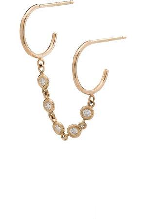 Zoe Chicco Women Hoop - 14kt diamond double-hoop earring - METALLIC