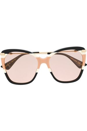 Gucci Oversized butterfly-frame sunglasses - 007