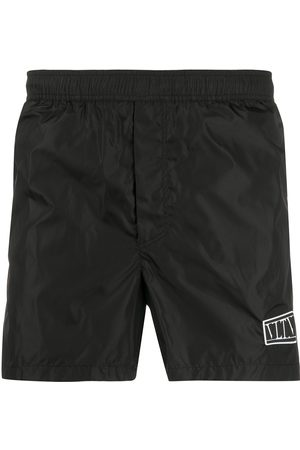 VALENTINO VLTN logo patch swim shorts