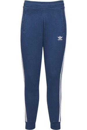 adidas Logo Striped Cotton Blend Pants