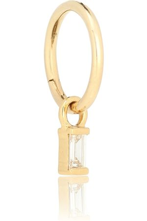 Maria Tash 18kt and diamond hoop earring