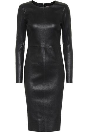 Stouls Pao leather midi dress