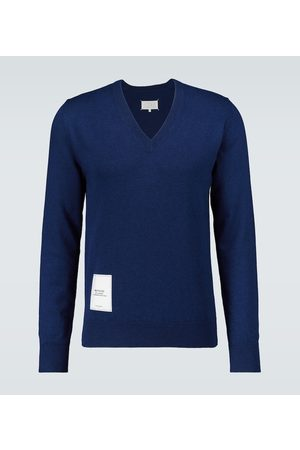 Maison Margiela Recycled knit V-neck sweater