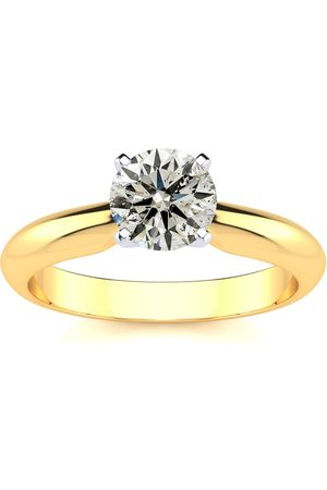 SuperJeweler 1 Carat Round Diamond Solitaire Ring in 14K (2.2 Grams) (F-G Color