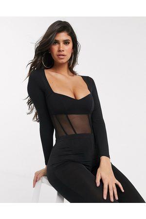 ASOS Corset style sweetheart neck bodysuit in