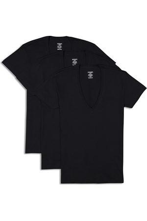 2Xist Men T-shirts - 2(X)Ist Slim Fit Deep V-Neck Tee, Pack of 3