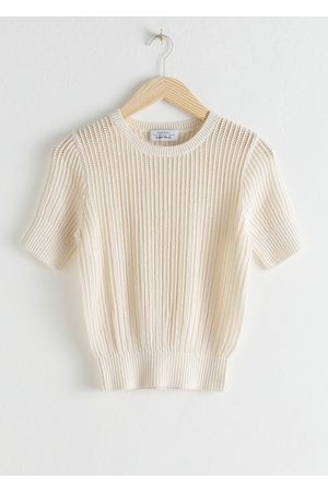 & OTHER STORIES Open Crochet Knit Top