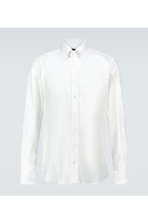 Thom Sweeney Long-sleeved Oxford cotton shirt