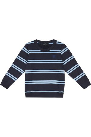 Acne Studios Mini Face striped cotton sweatshirt
