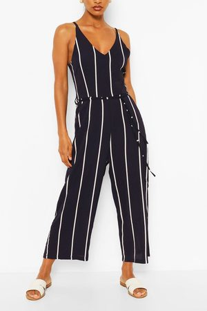 Boohoo Women Jumpsuits - Womens Striped Jumpsuit - - 4