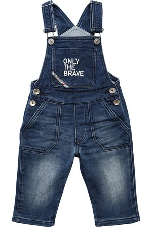 Diesel Girls Dungarees - Effect Cotton Blend Overalls