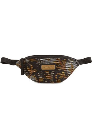 VERSACE Baroque Print Mesh Belt Bag