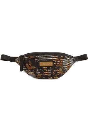 VERSACE Baroque Print Mesh Belt Bag